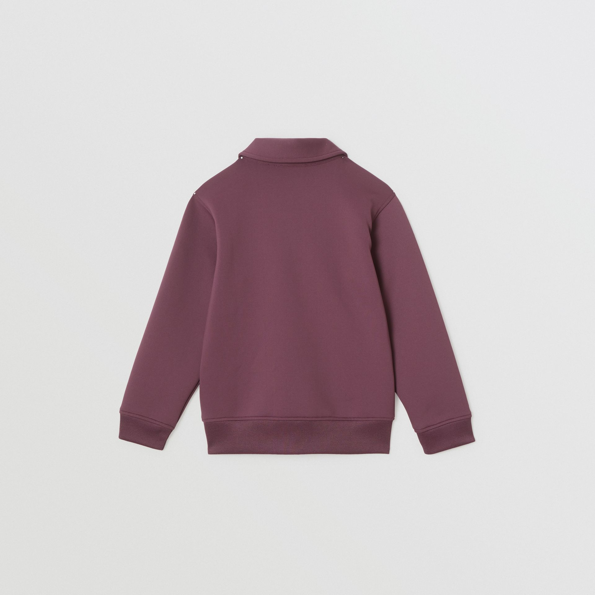 Logo Print Lightweight Track Top in Claret | Burberry - gallery image 4