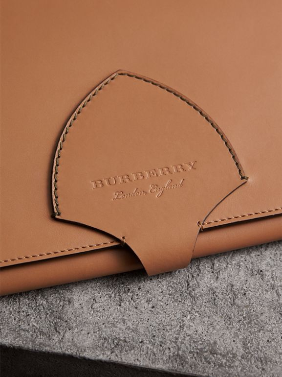 Equestrian Shield Two-tone Leather A4 Document Case in Camel | Burberry United Kingdom - cell image 1