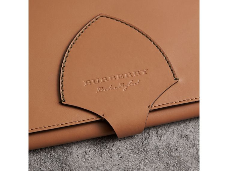 Equestrian Shield Two-tone Leather A4 Document Case in Camel - Men | Burberry Australia - cell image 1