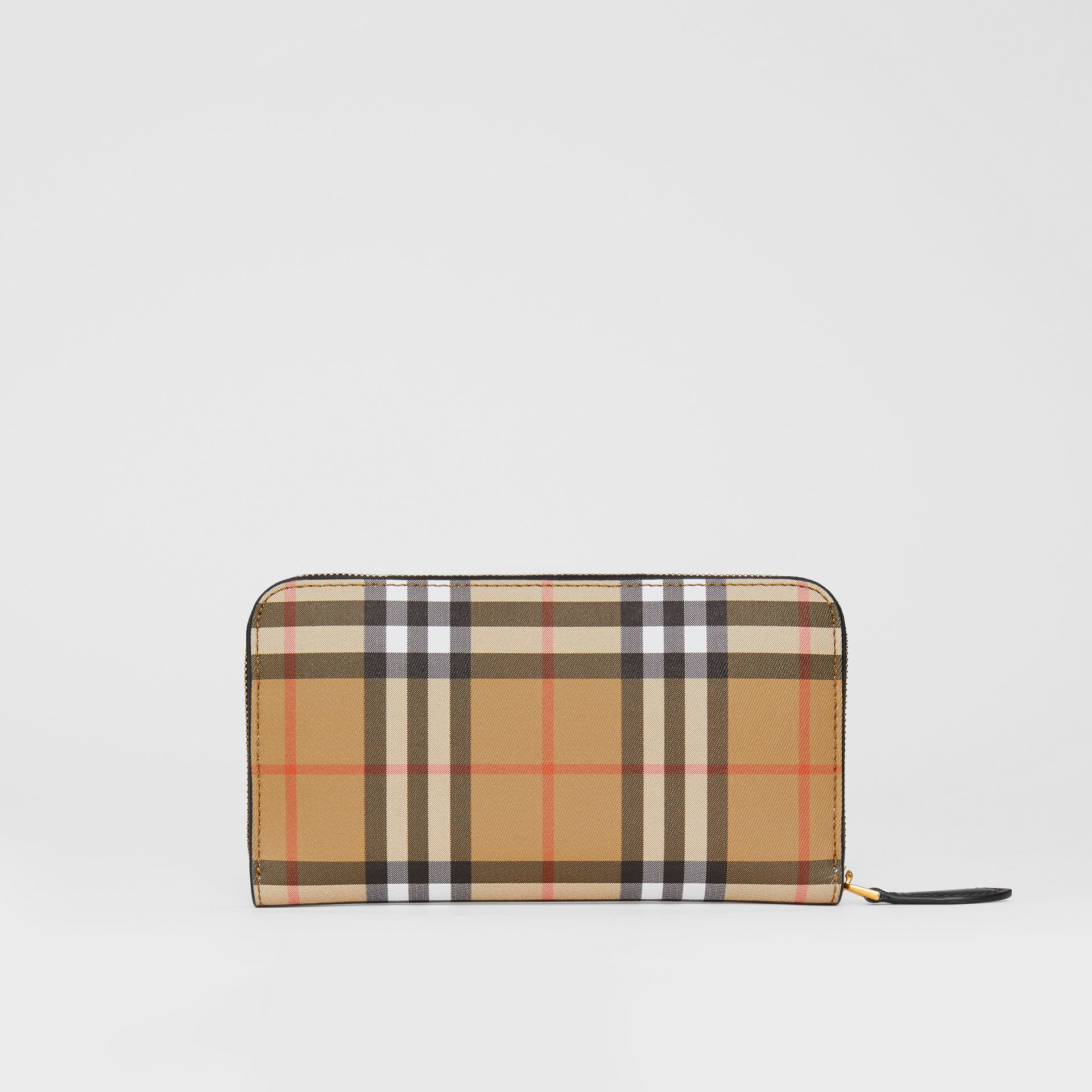 Vintage Check and Leather Ziparound Wallet in Black - Women | Burberry United Kingdom - gallery image 5