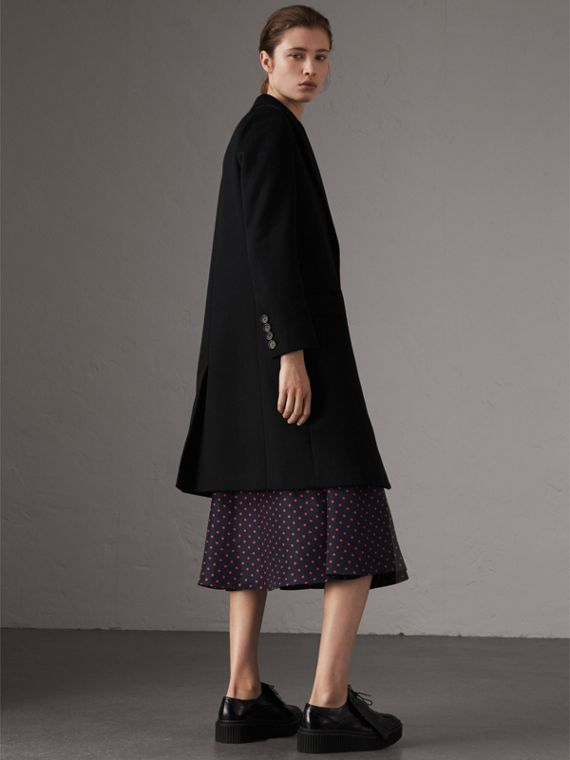 Wool Cashmere Tailored Coat in Black - Women | Burberry - cell image 2