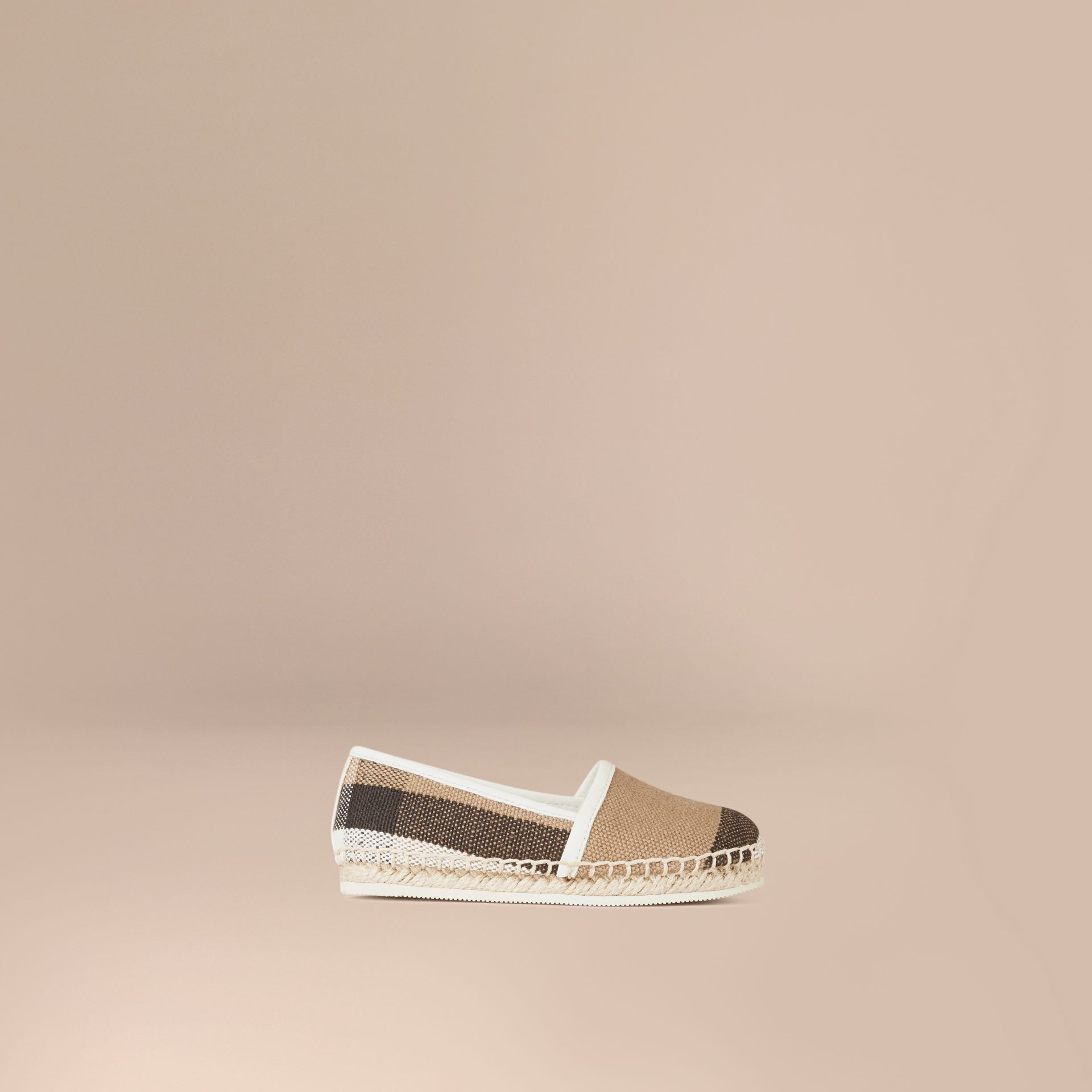 Off white Canvas Check Espadrilles - gallery image 1