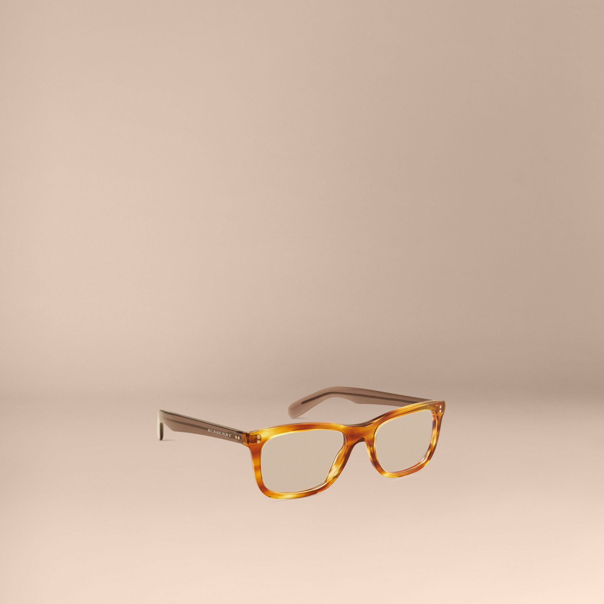Square Optical Frames in Tortoise Amber - gallery image 1