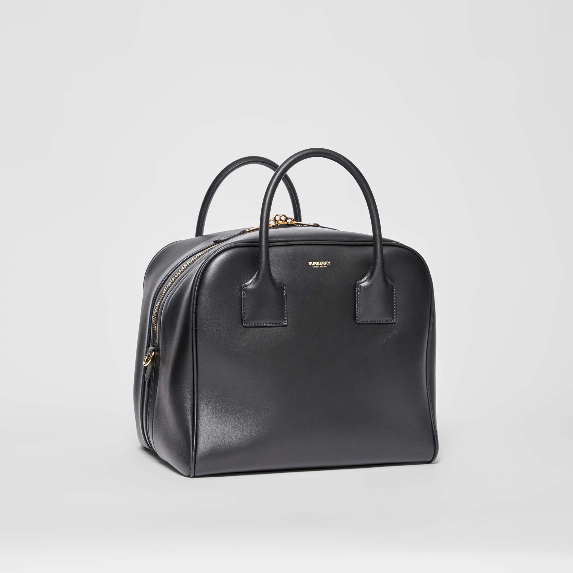 Medium Leather Cube Bag in Black - Women | Burberry United Kingdom - gallery image 6