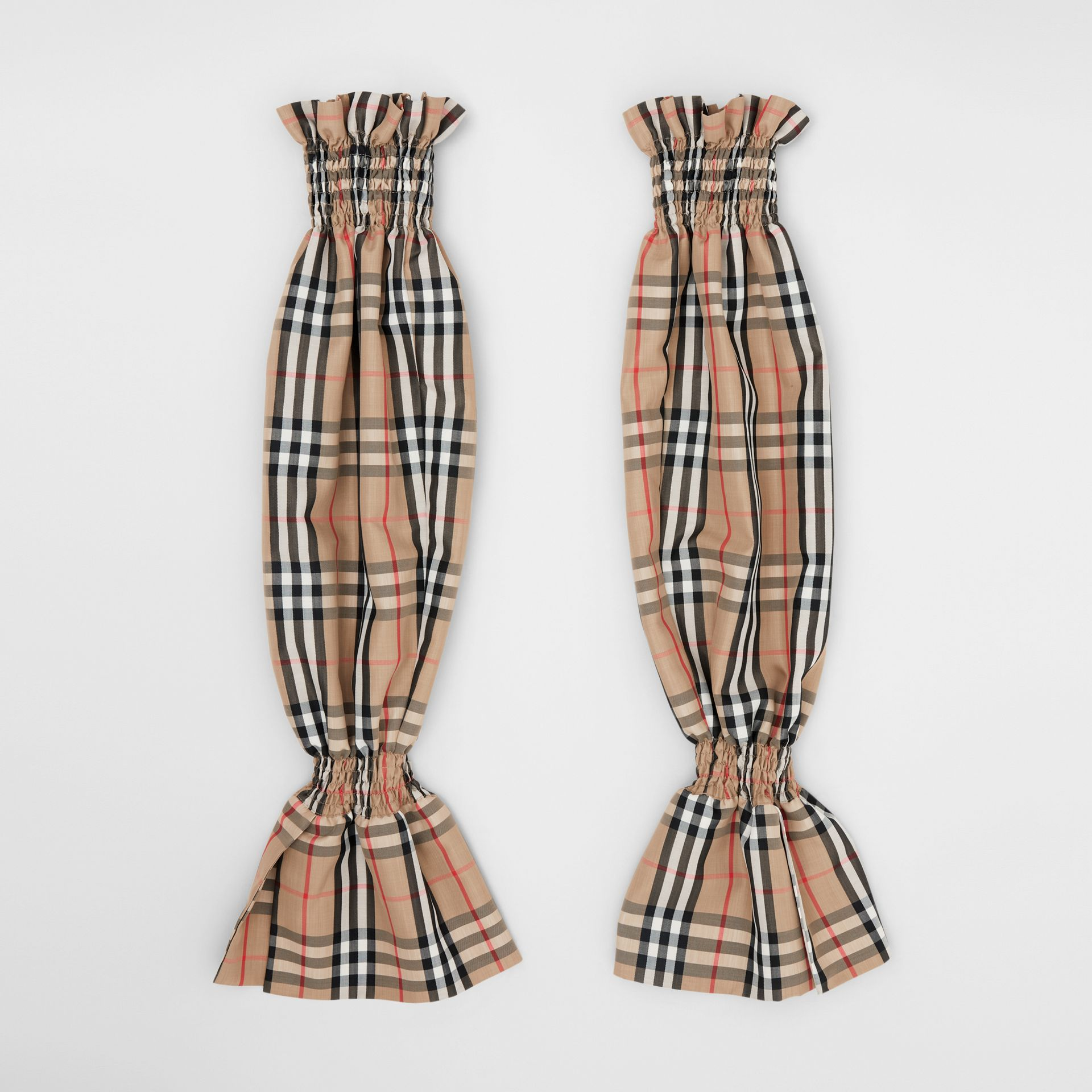 Vintage Check Puff Sleeves in Archive Beige - Women | Burberry Australia - gallery image 7
