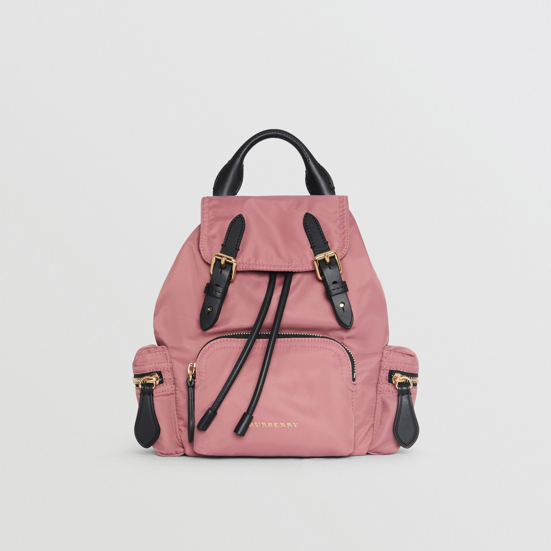 The Small Crossbody Rucksack in Nylon in Mauve Pink - Women | Burberry Canada - gallery image 0