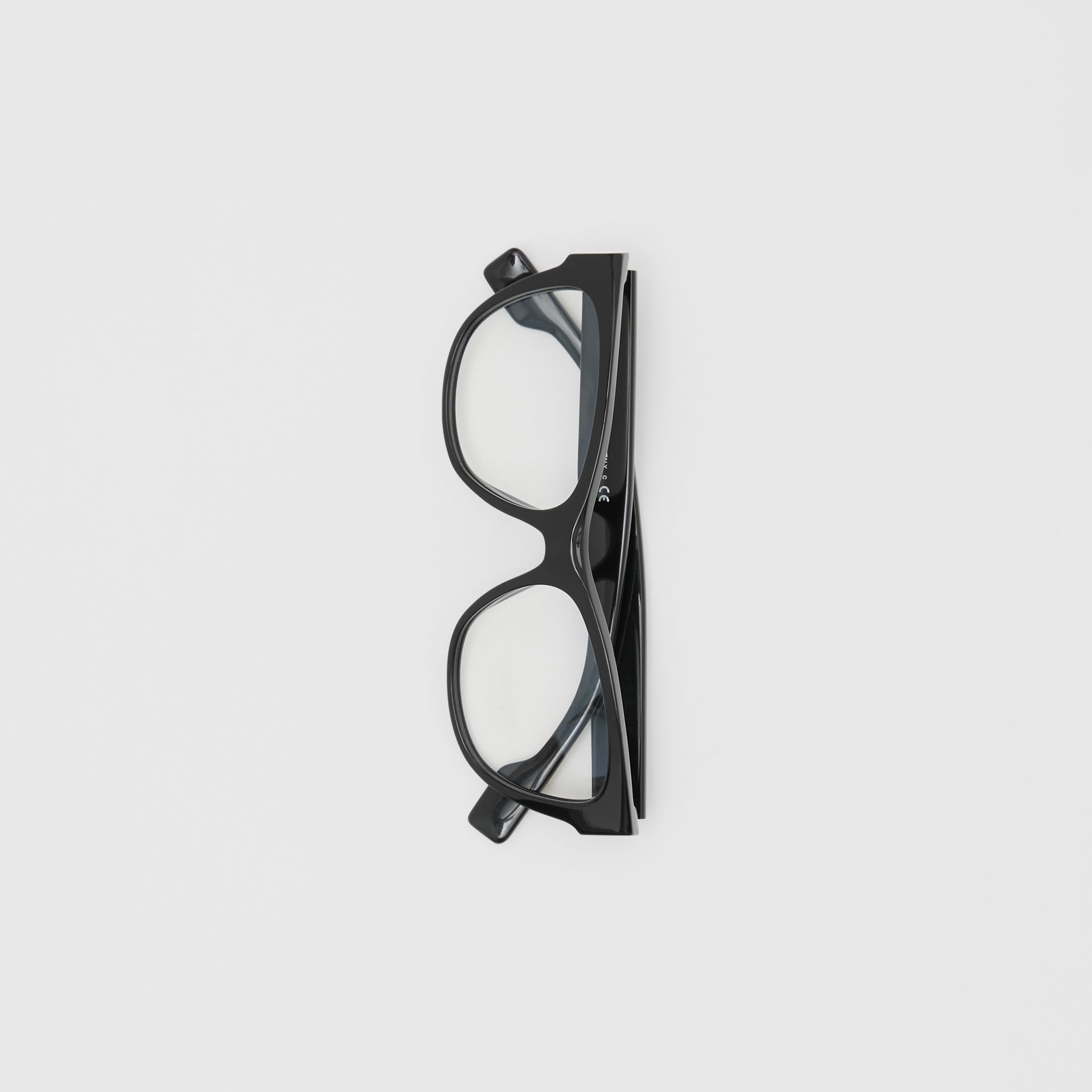 Square Optical Frames in Black - Women | Burberry United Kingdom - gallery image 3