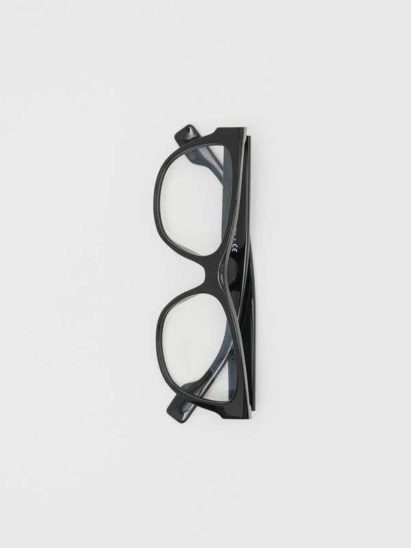 Square Optical Frames in Black - Women | Burberry United Kingdom - cell image 3