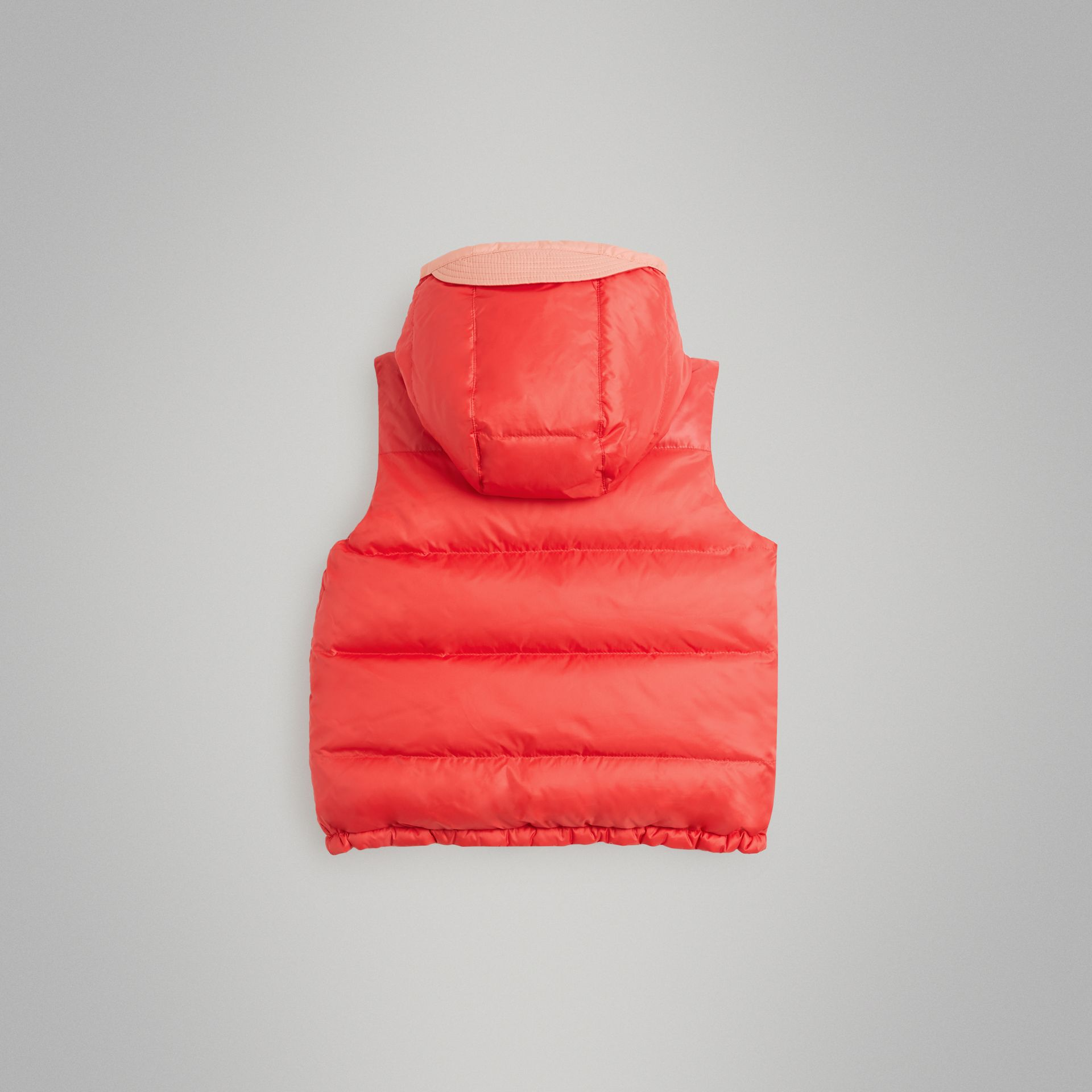 Reversible Showerproof Down-filled Hooded Gilet in Coral Pink | Burberry Australia - gallery image 3