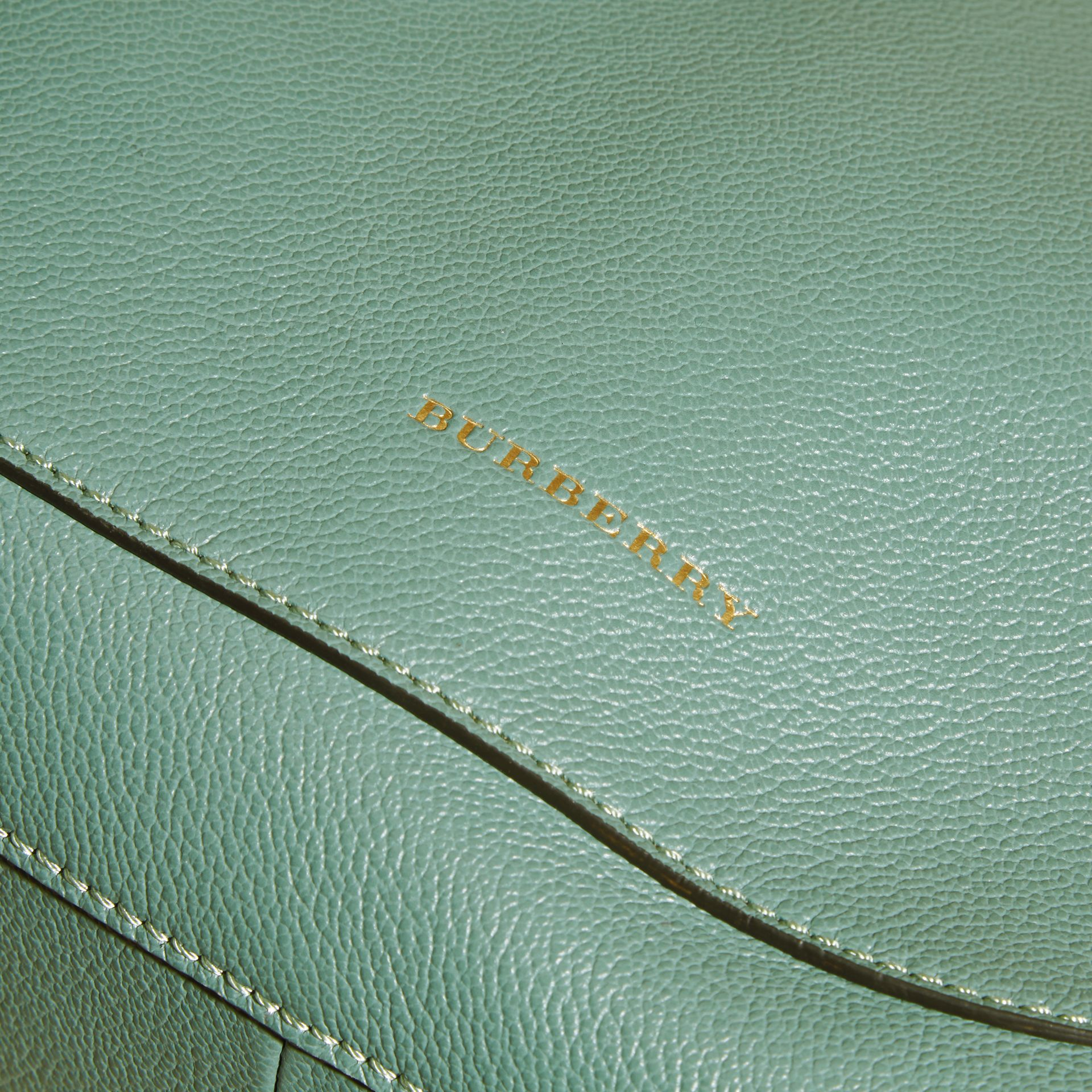 Textured Leather Shoulder Bag Eucalyptus Green - gallery image 2