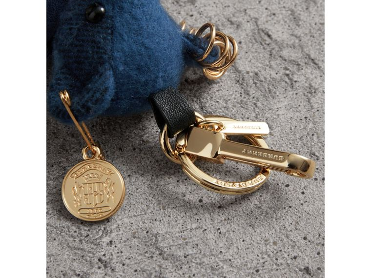 Thomas Bear Charm with Kilt Pin in Cadet Blue | Burberry United States - cell image 1