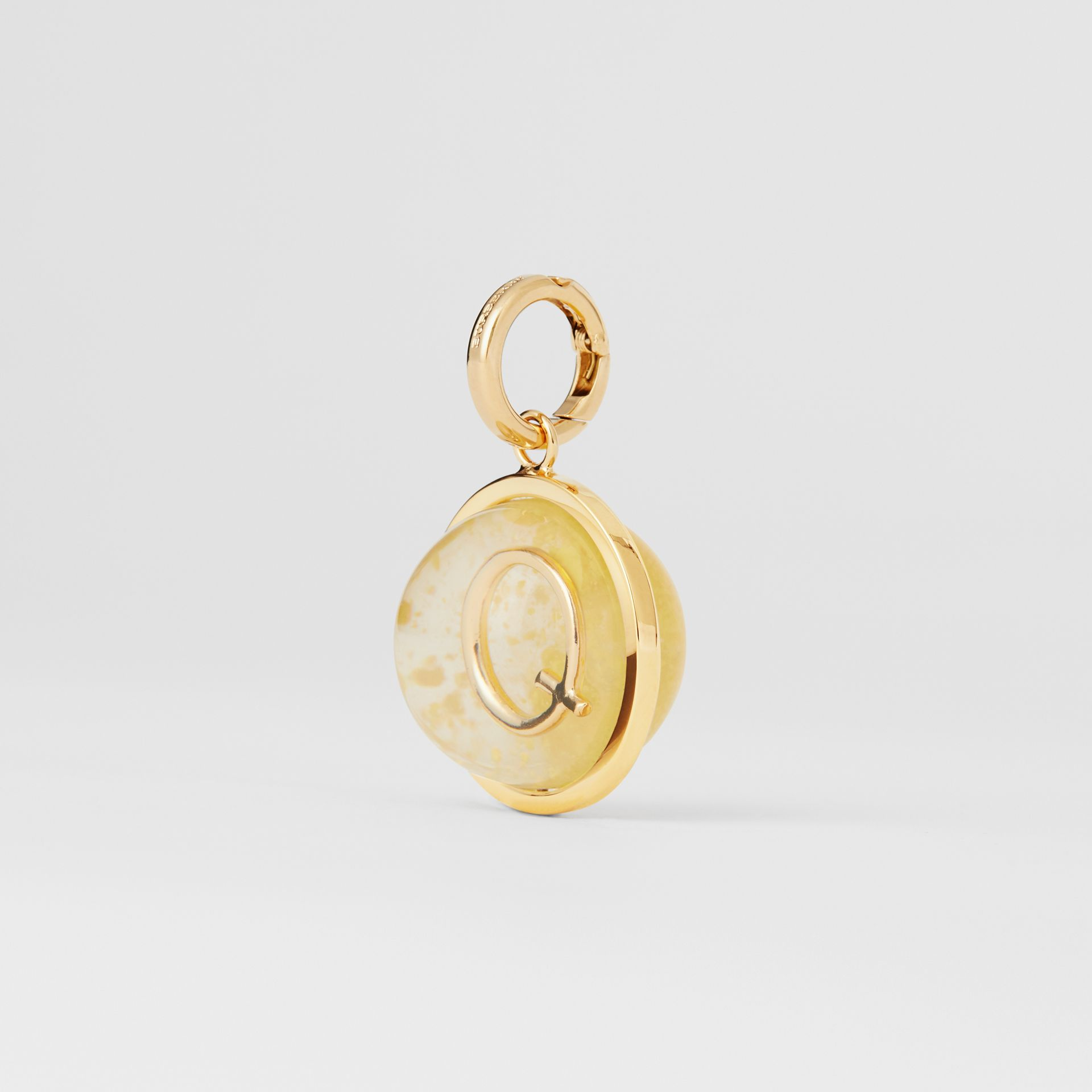 Marbled Resin 'Q' Alphabet Charm in Gold/mimosa - Women | Burberry Singapore - gallery image 4