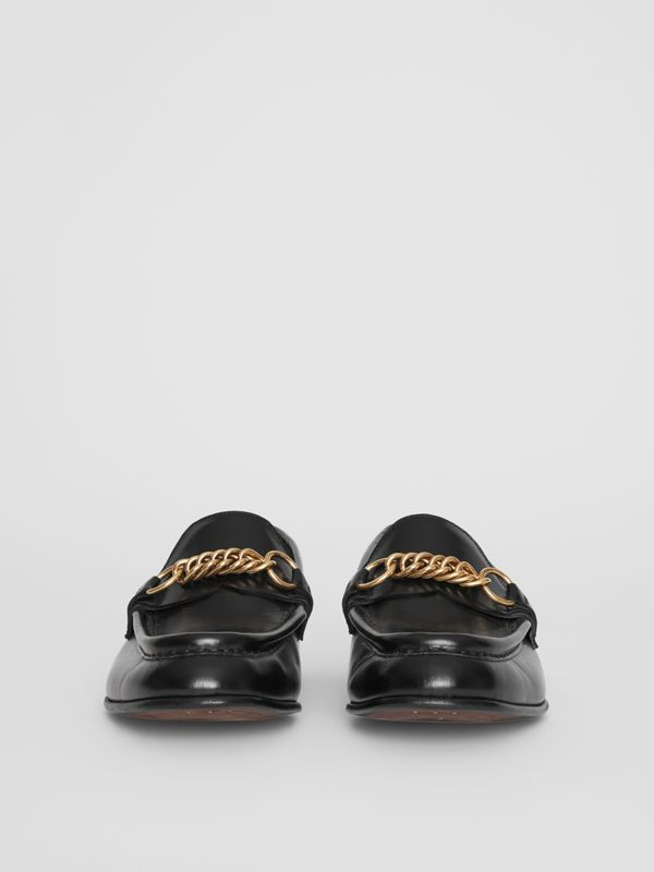 The Leather Link Loafer in Black - Women | Burberry - cell image 3