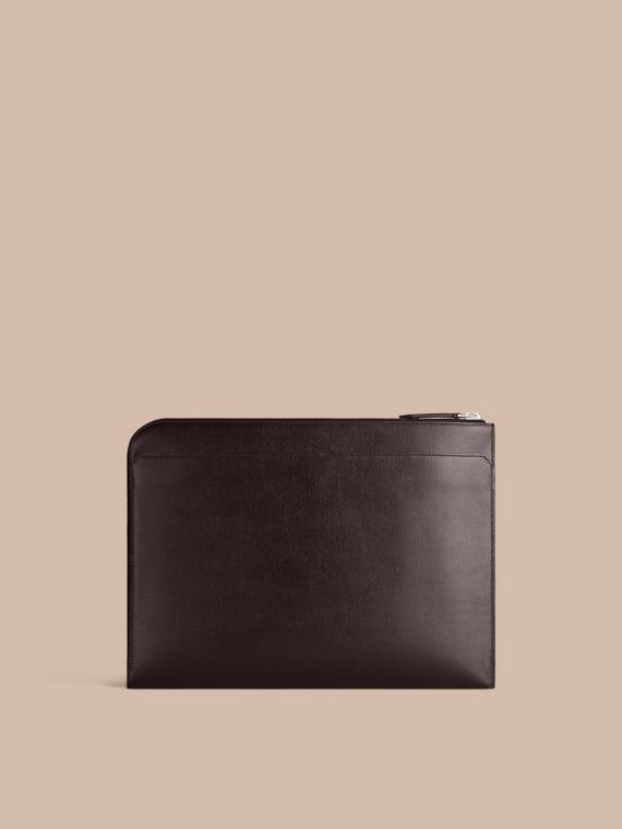 London Leather Document Case in Black - Men | Burberry - cell image 3