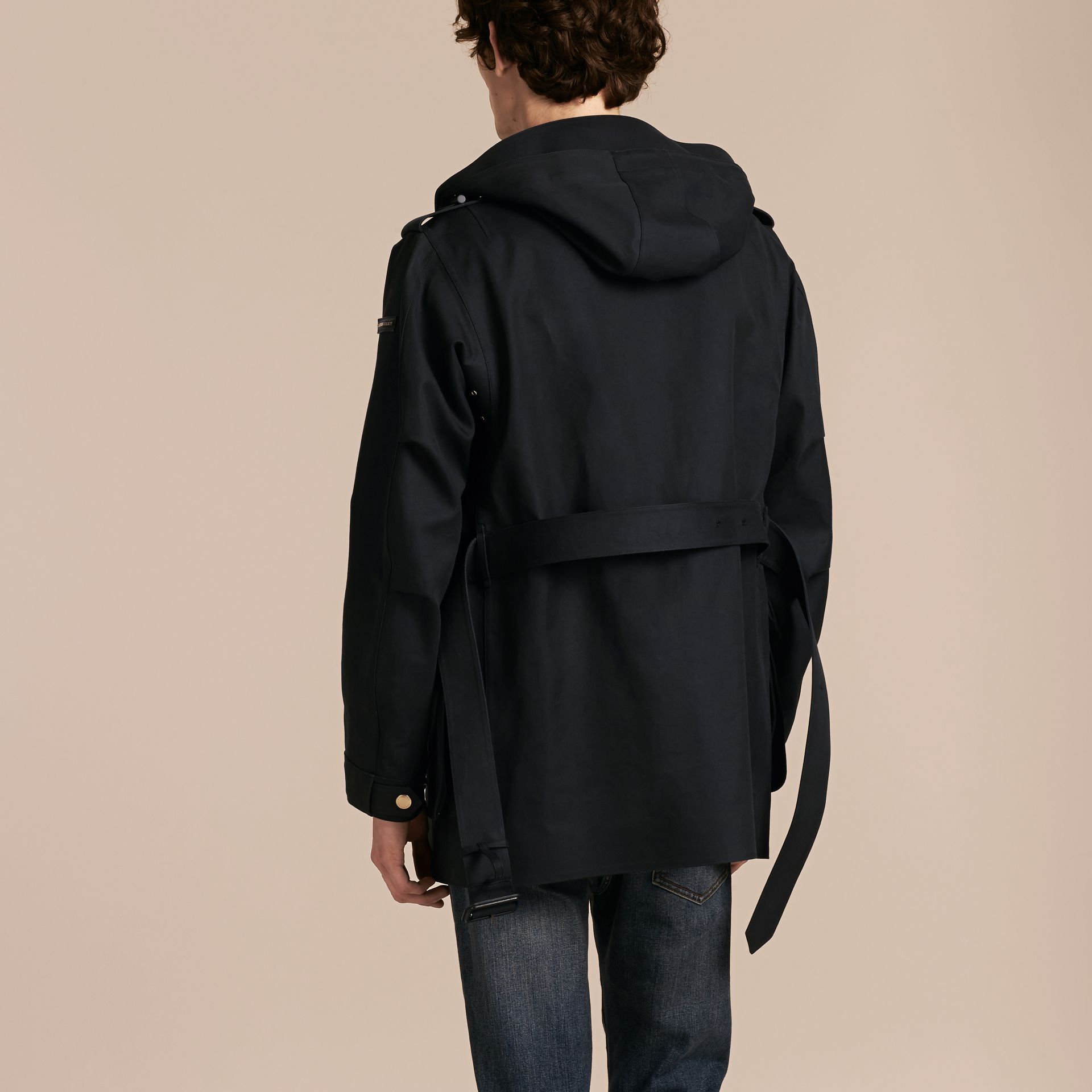 Hooded Bonded Cotton Field Jacket - gallery image 3