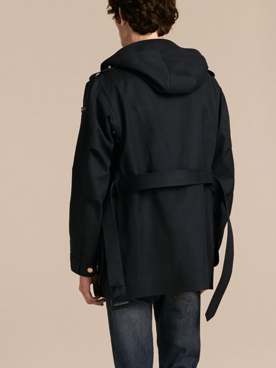 Hooded Bonded Cotton Field Jacket - cell image 2