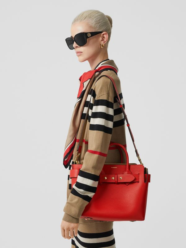 The Small Leather Triple Stud Belt Bag in Bright Military Red - Women | Burberry - cell image 2
