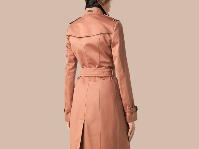 Antique garnet Cotton Sateen Trench Coat - cell image 1