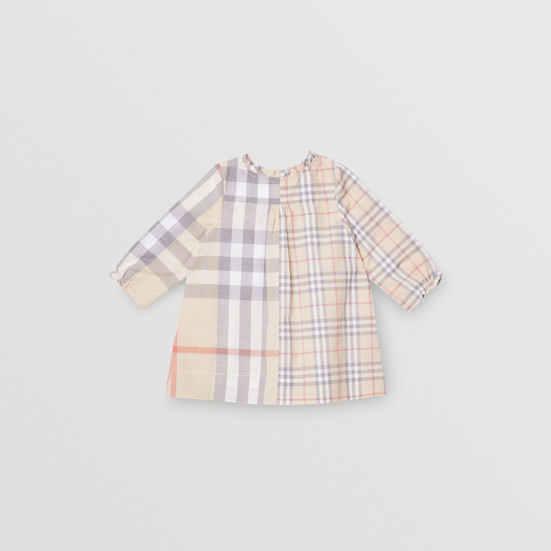 Robe et bloomer en coton check (Stone Pâle) - Enfant | Burberry - photo de la galerie 3