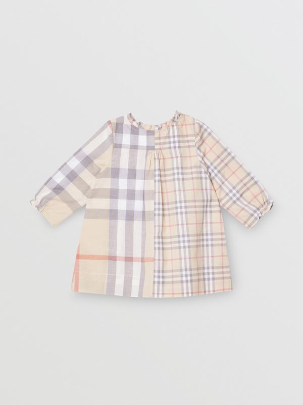 Robe et bloomer en coton check (Stone Pâle) - Enfant | Burberry - cell image 3