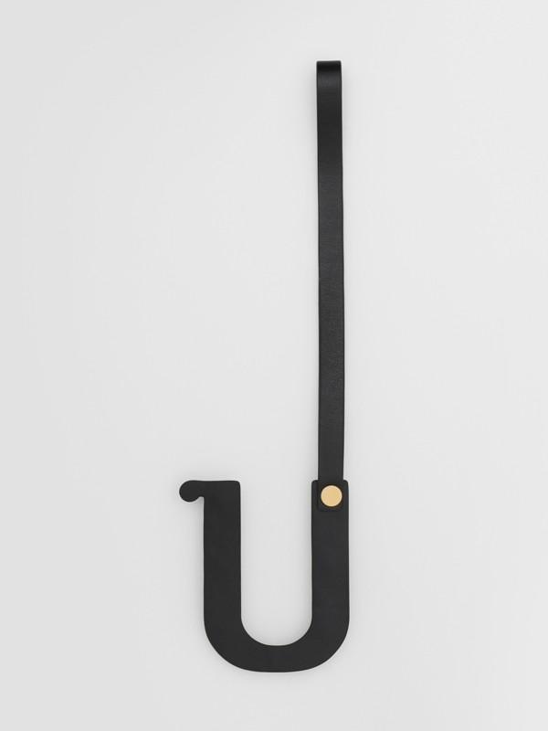 Bijou alphabet «U» en cuir clouté (Noir/or Clair) - Femme   Burberry Canada - cell image 2
