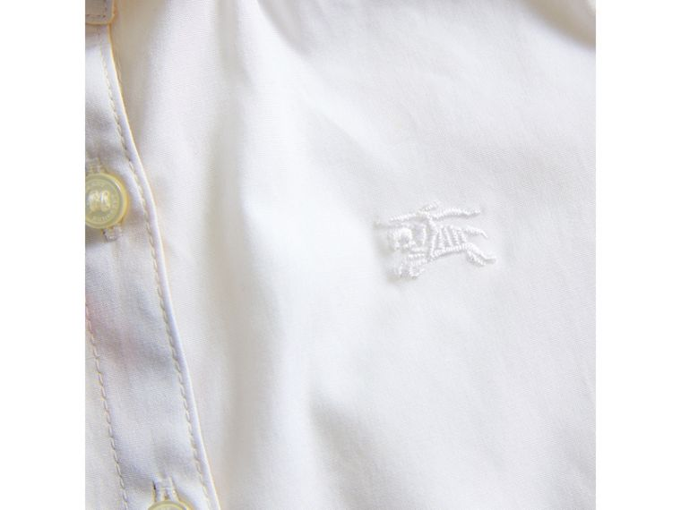 Peter Pan Collar Cotton Shirt in White | Burberry - cell image 1