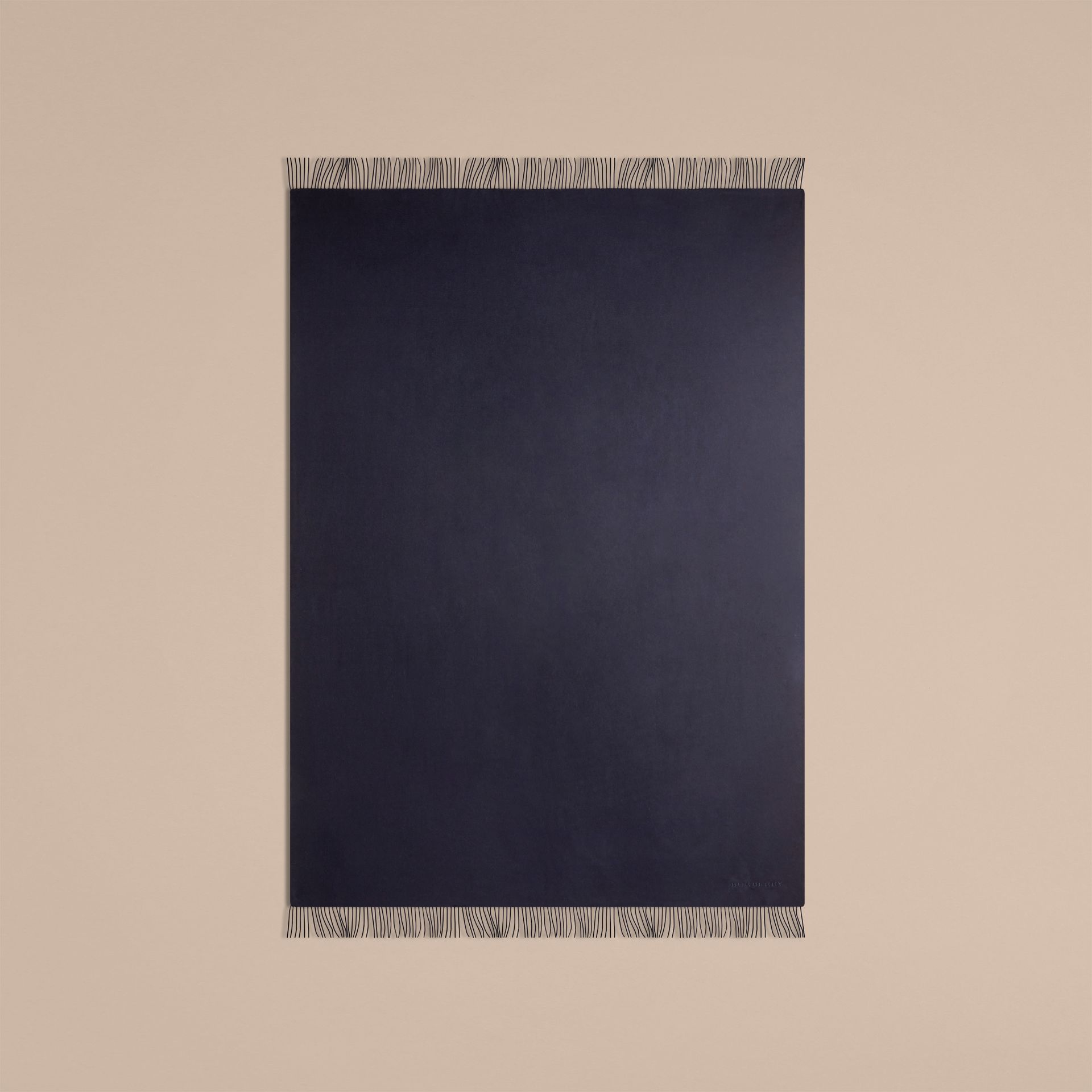 Indigo blue Cashmere Blanket Indigo Blue - gallery image 3