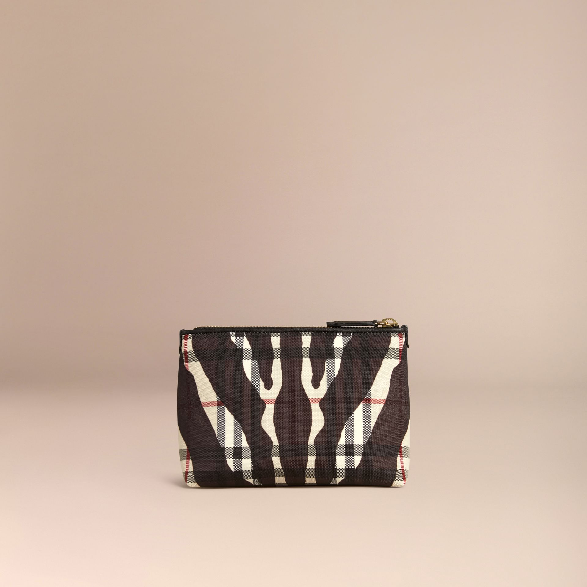 Black Medium Printed Horseferry Check Beauty Pouch - gallery image 4