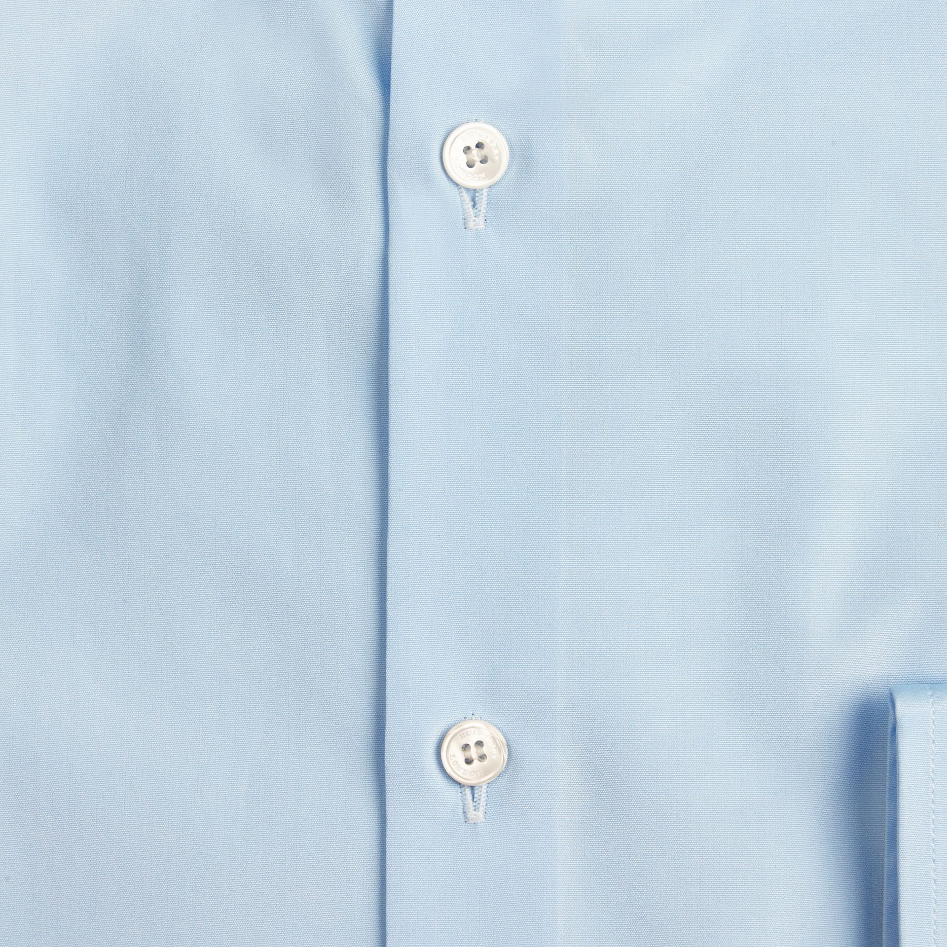 City blue Slim Fit Button-down Collar Cotton Poplin Shirt City Blue - gallery image 2