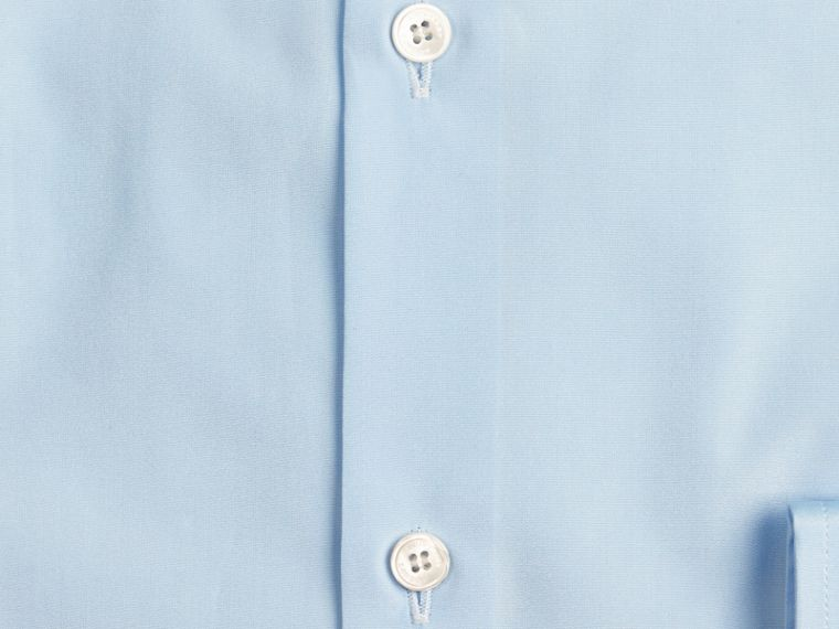 Blu urbano Camicia sfiancata in popeline di cotone con colletto button-down Blu Urbano - cell image 1