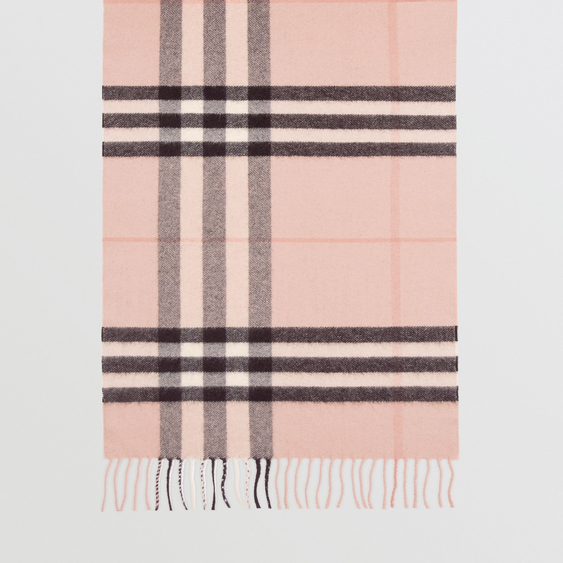 The Classic Check Cashmere Scarf in Ash Rose | Burberry Singapore - gallery image 4