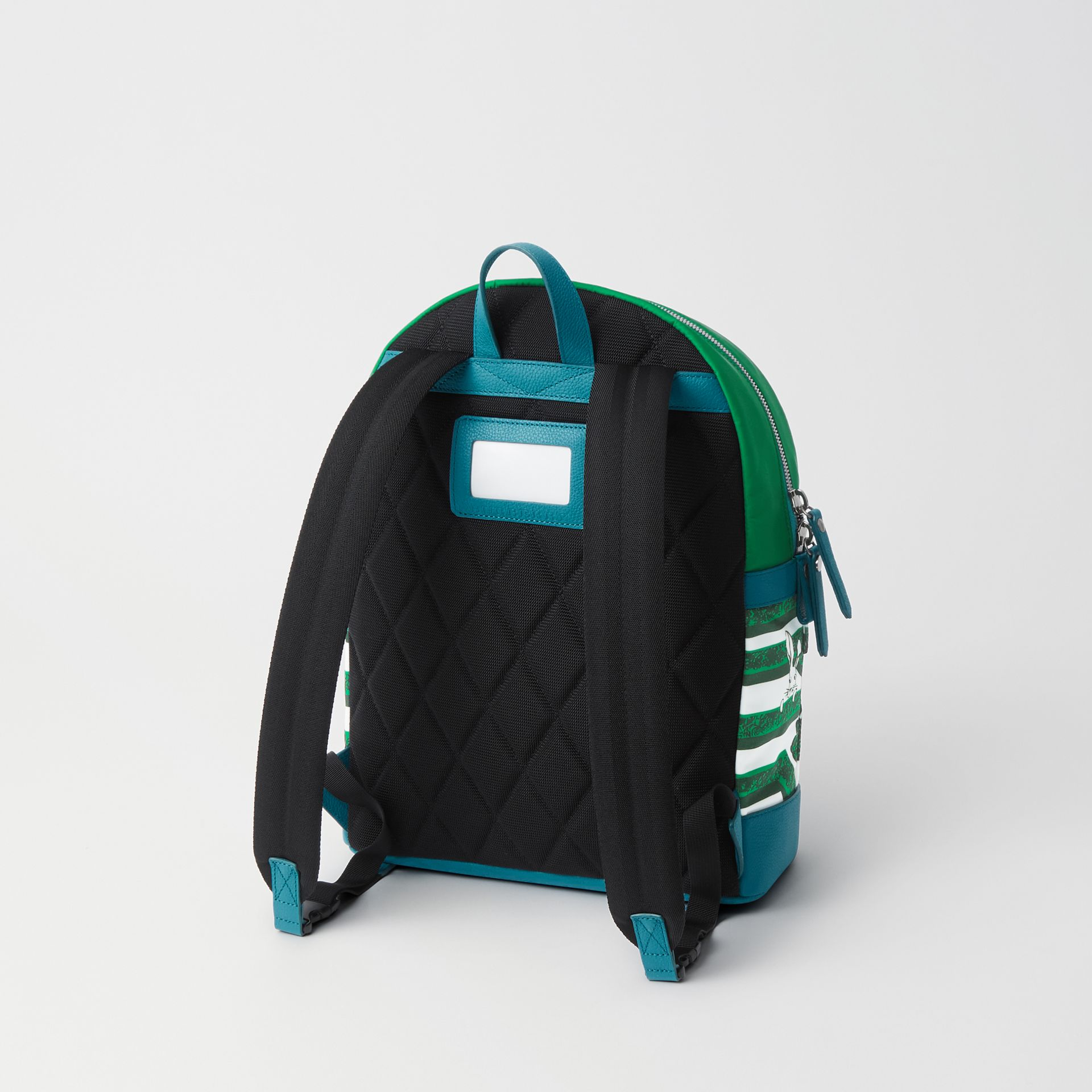 Hedge Maze Print Backpack in Bright Pigment Green - Children | Burberry - gallery image 2