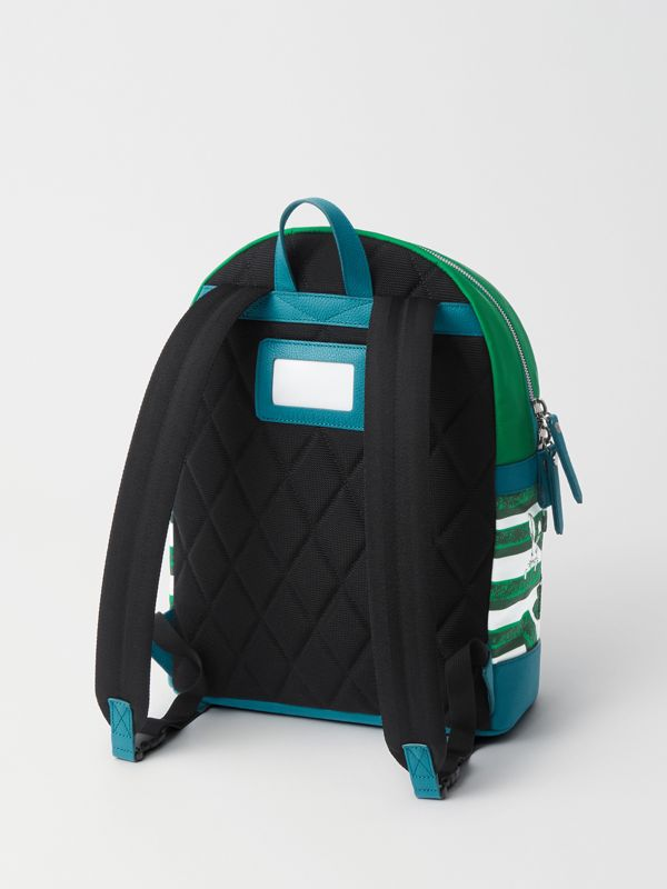 Hedge Maze Print Backpack in Bright Pigment Green - Children | Burberry - cell image 2