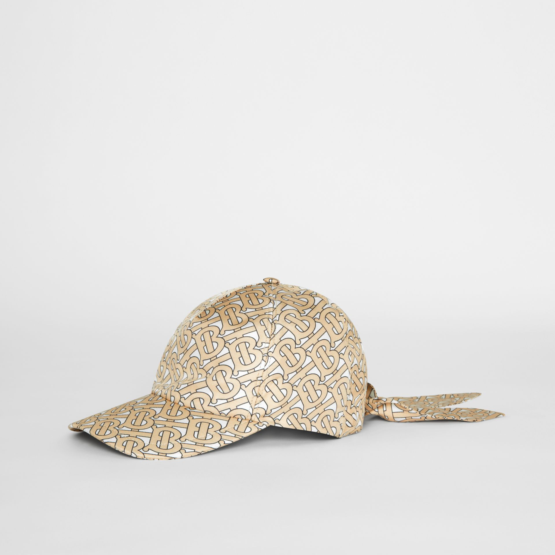Monogram Print Baseball Cap in Camel - Women | Burberry United Kingdom - gallery image 3