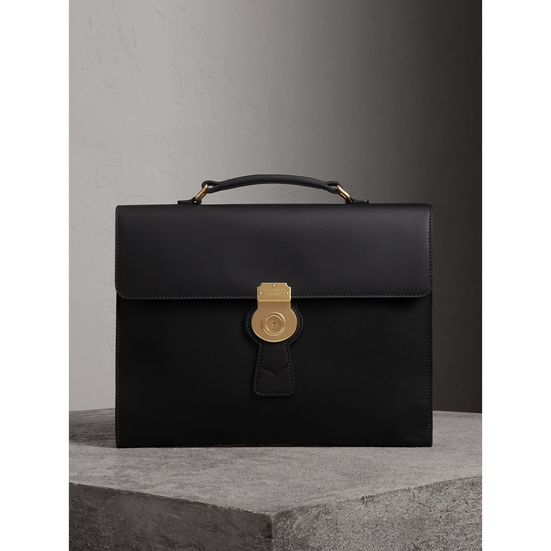 The Large DK88 Document Case in Black/black - Men | Burberry - gallery image 0