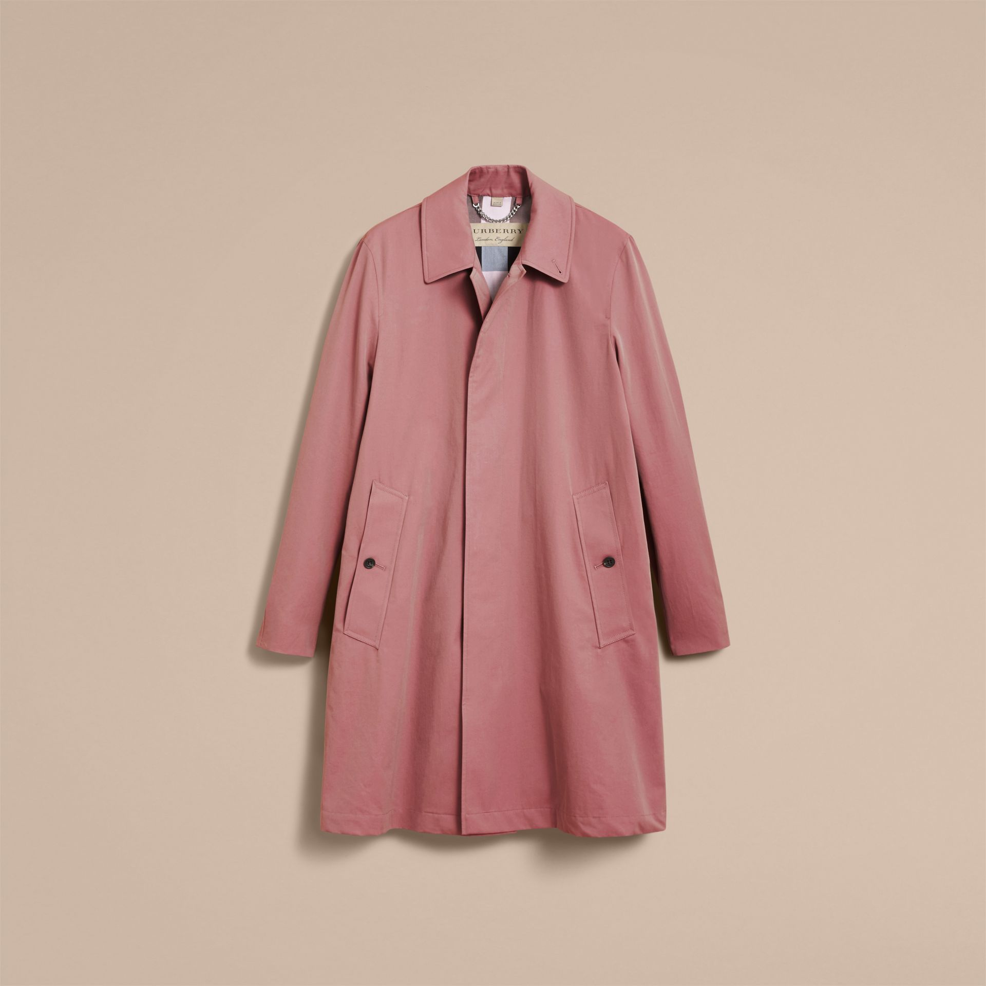 Tropical Gabardine Car Coat Antique Rose - gallery image 4