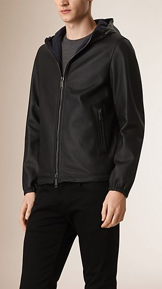 Reversible Lambskin Hooded Blouson