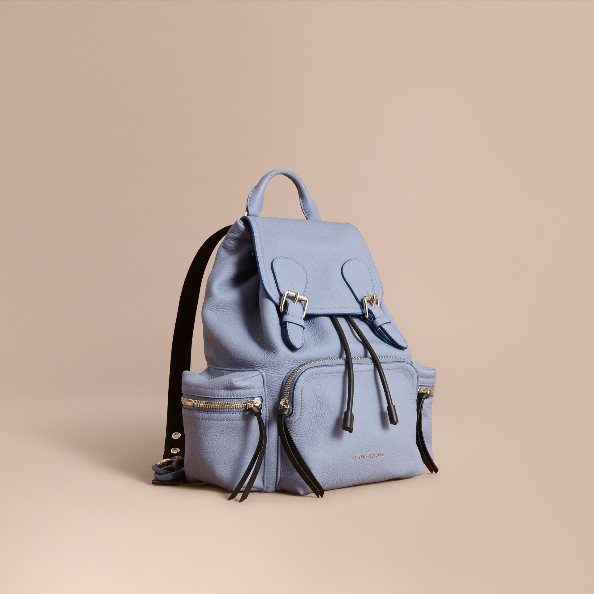 The Medium Rucksack in Deerskin with Resin Chain in Slate Blue - Women | Burberry - gallery image 7