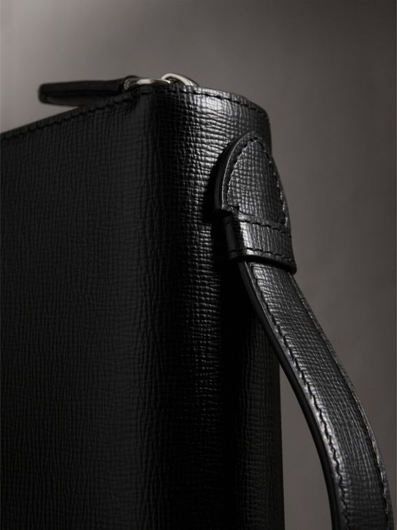 London Leather Travel Wallet in Black - Men | Burberry United Kingdom - cell image 1