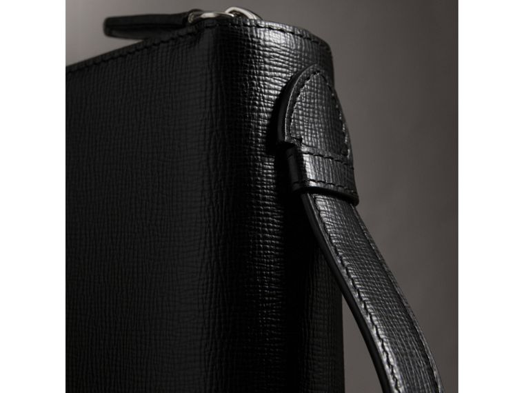 London Leather Travel Wallet in Black - Men | Burberry Canada - cell image 1