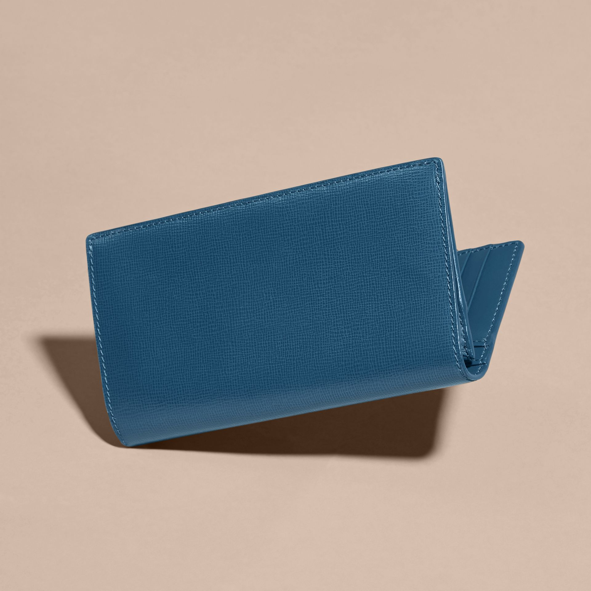 London Leather Continental Wallet in Mineral Blue - gallery image 5
