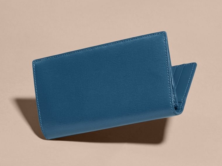 London Leather Continental Wallet in Mineral Blue - cell image 4