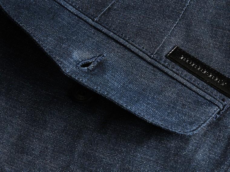 Navy Pantaloncini sartoriali in lino e cotone - cell image 1