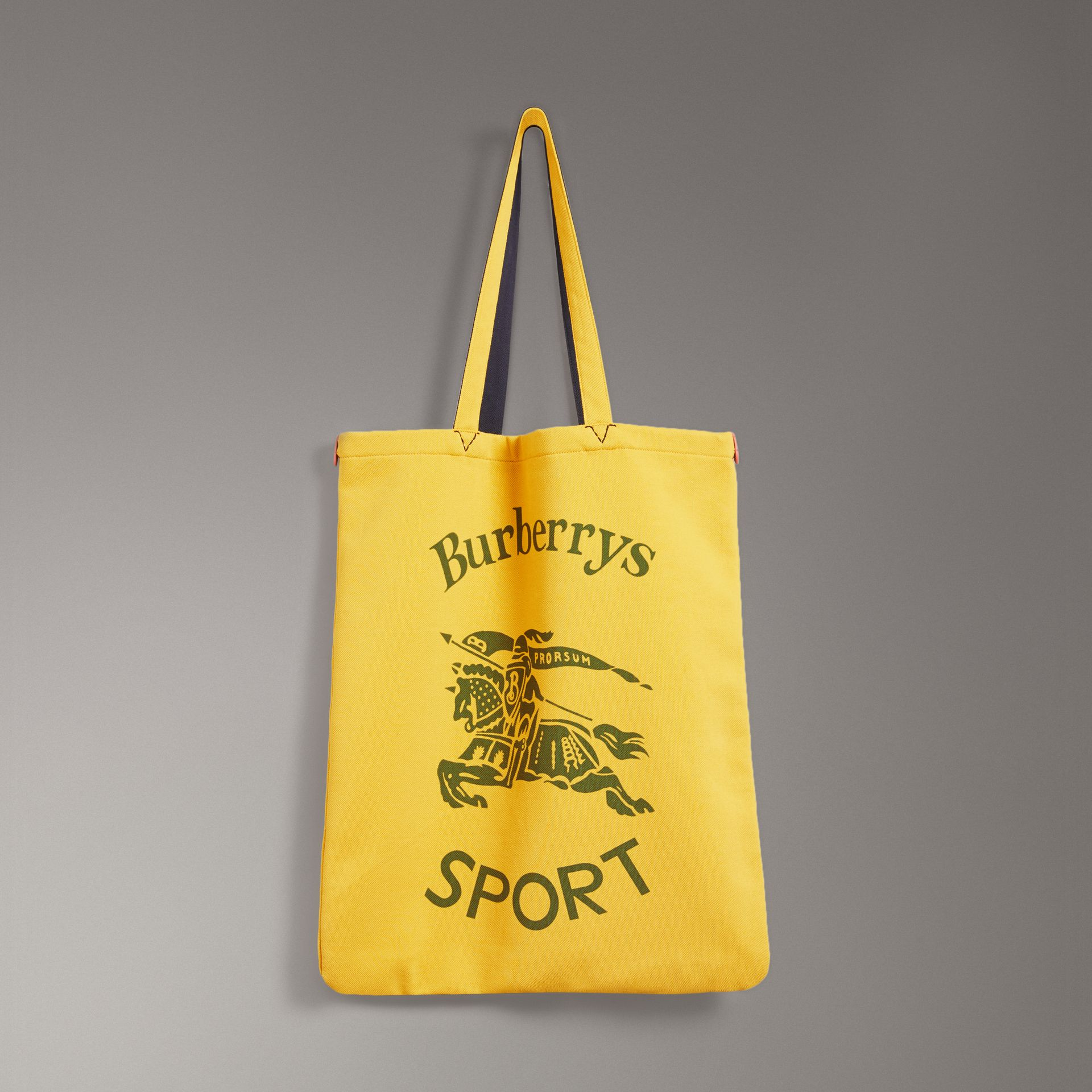 Large Archive Logo Jersey Shopper in Ochre Yellow | Burberry United States - gallery image 0