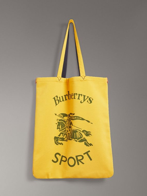 Large Archive Logo Jersey Shopper in Ochre Yellow