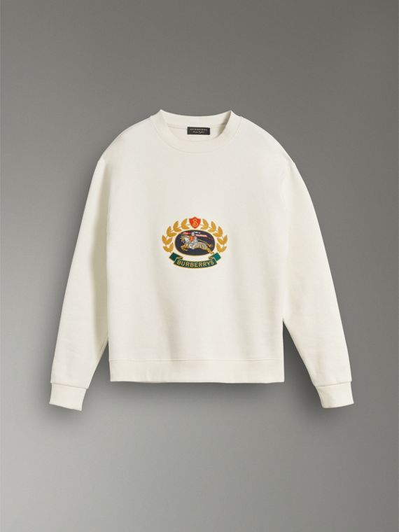 Reissued Jersey Sweatshirt in Off White - Men | Burberry - cell image 3