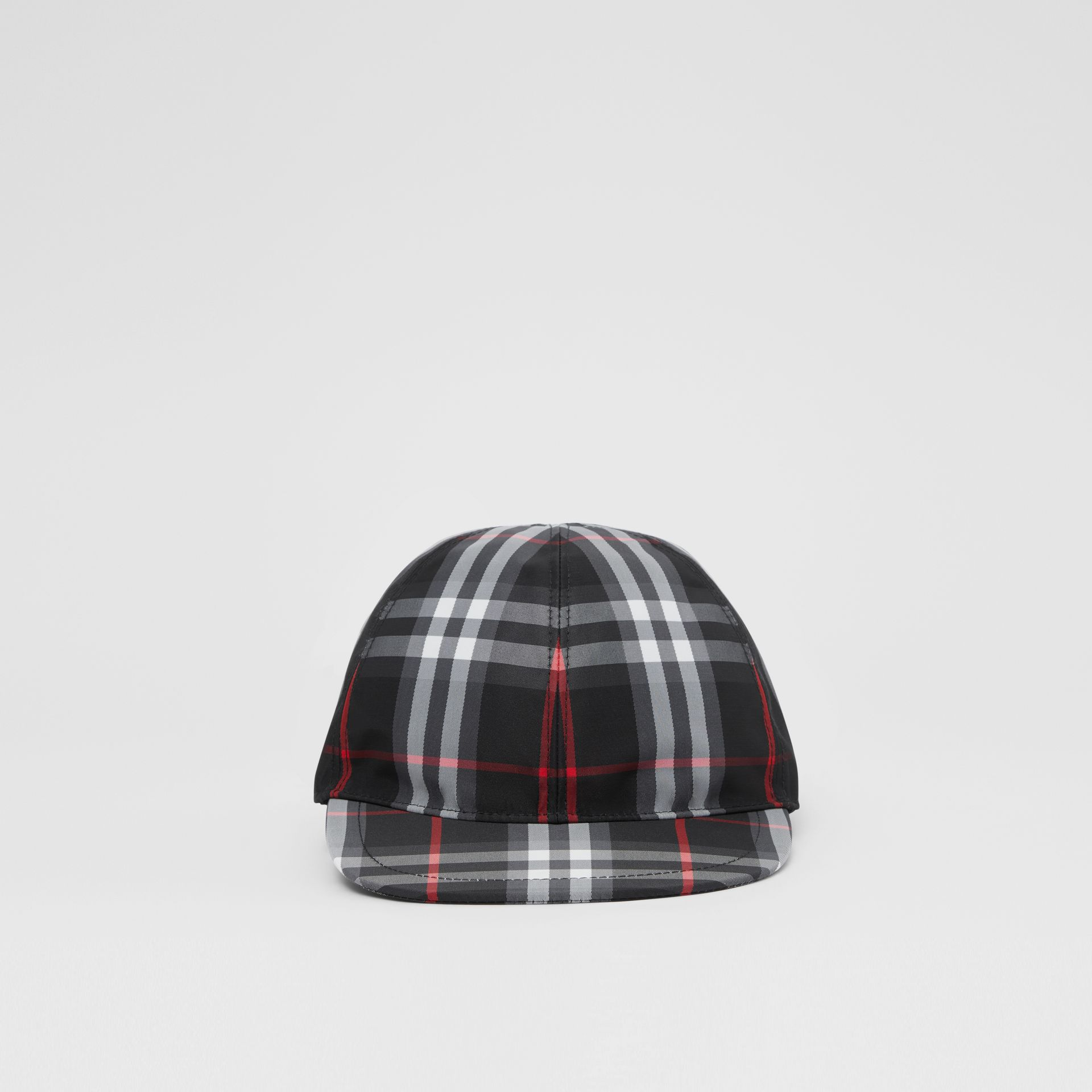 Check Baseball Cap in Black - Children | Burberry - gallery image 0