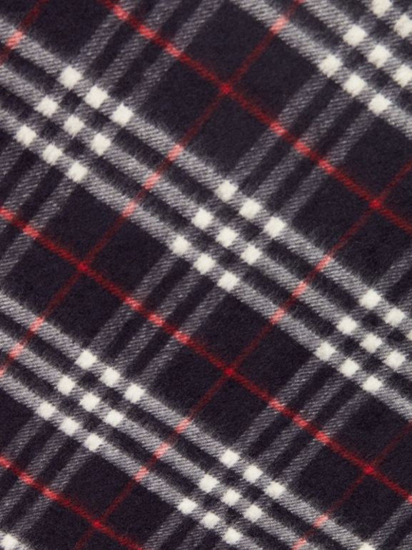 The Burberry Bandana in cashmere con motivo tartan (Navy) | Burberry - cell image 1