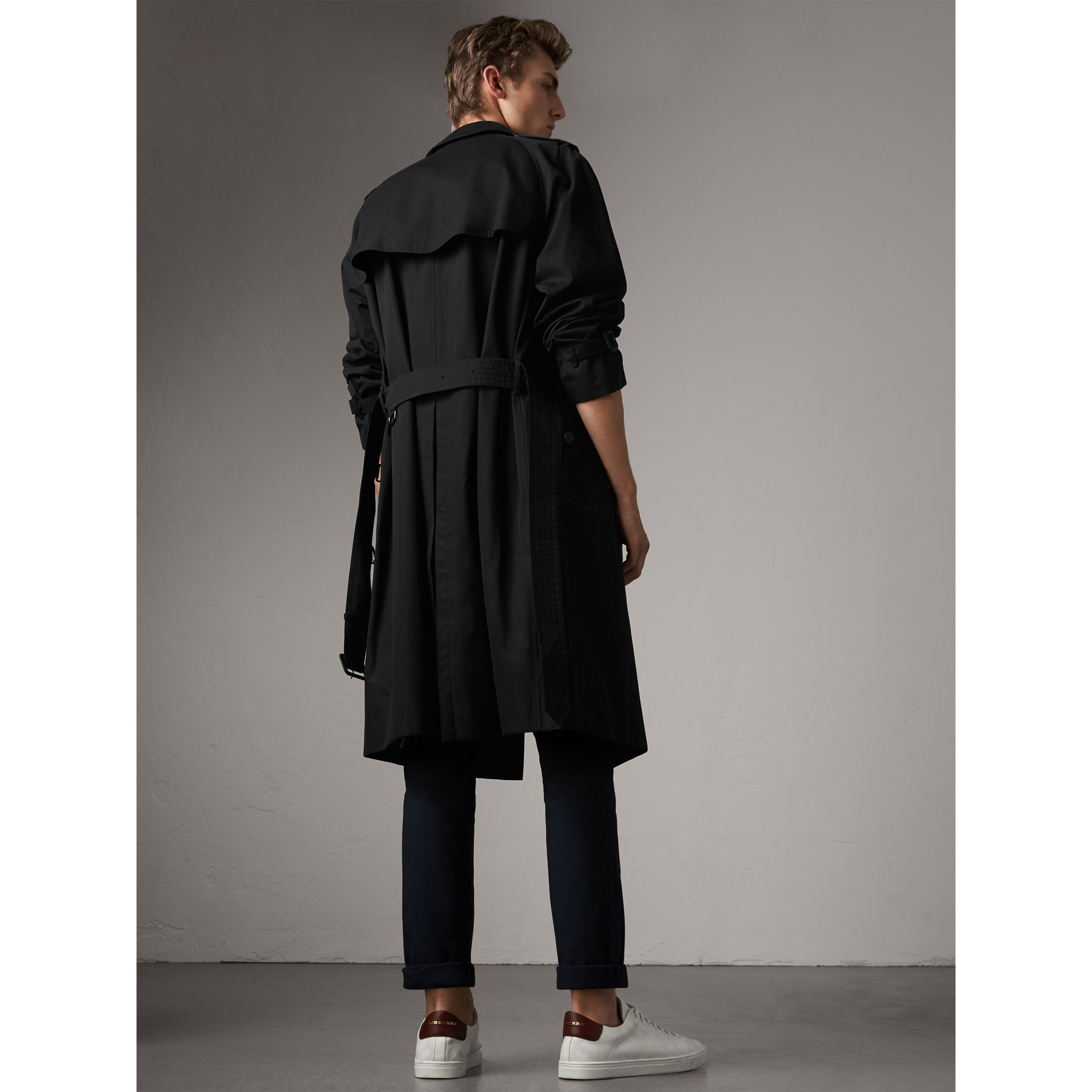 The Westminster – Extra-long Trench Coat in Black - Men | Burberry ...
