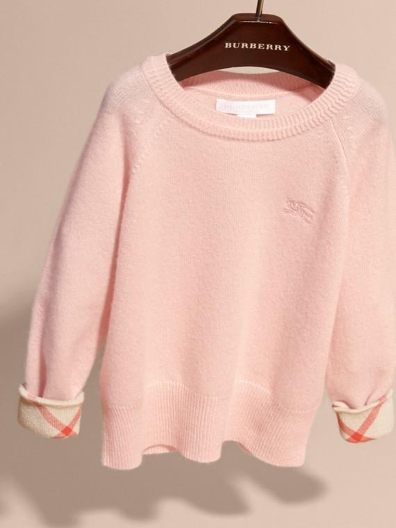 Fiori di rosa Pullover in cashmere con polsini tartan Fiori Di Rosa - cell image 2